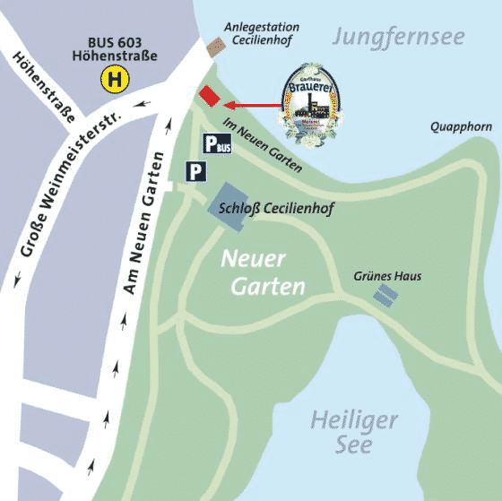Routenplaner Zur Meierei Potsdam Meierei Potsdam